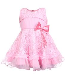 Babyhug Sleeveless Party Frock  - Pink