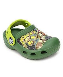 Crocs Clogs With Back Strap - Ninja Graphic