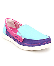 Crocs Maternity Walu Canvas Loafer Shoes - Slip On