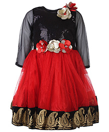 Kittens Party Frock - Floral Motifs