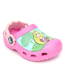 Crocs Clogs With Back Strap - Disney Princess Graphic