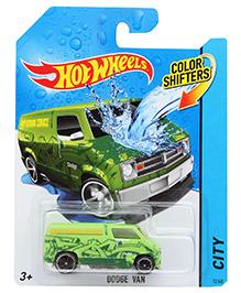 Hotwheels Colour Shifters Dodge Van - Green