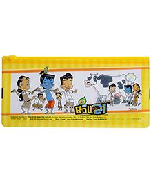 Sticker Bazaar Roll No 21 Pouch - Yellow