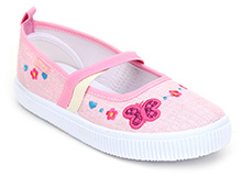 Kittens Canvas Shoes Velcro Closure - Butterfly Print