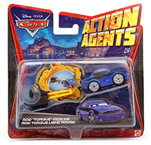 Hotwheels Disney Pixar Cars Action Agents - Rod Torque Redline