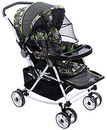 Fab N Funky Pram - Green And Black