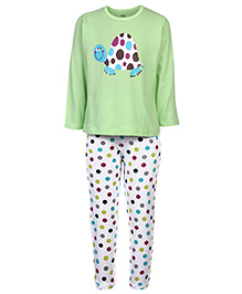 Babyhug Full Sleeves Night Suit - Green