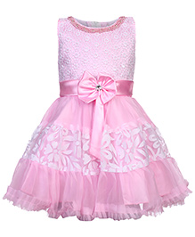 Babyhug Sleeveless Party Dress - Lace Work
