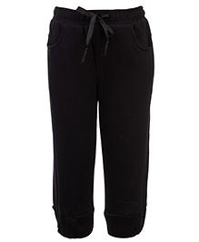 Babyhug Pull Up Pant With Drawstring - Black