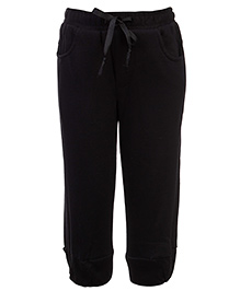 Babyhug Pull Up Pant With Drawstring - Black