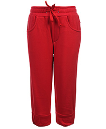 Babyhug Pull Up Pant With Drawstring - Red