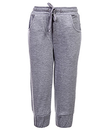 Babyhug Pull Up Pant With Drawstring - Grey