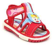 Sweet Year Musical Sandal Velcro Closure - Baby Girl Motif