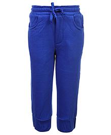 Babyhug Pull Up Pant With Drawstring - Royal Blue