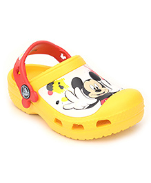 Crocs Clogs With Back Strap - Mickey Mouse Graphic