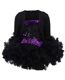 Kittens Singlet Frock With Shrug - Sequin Work