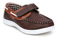 Kittens Casual Loafers With Velcro Closure - Brown