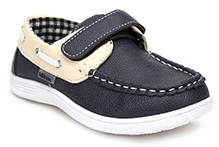 Kittens Casual Loafers With Velcro Closure - Navy Blue