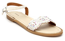 Kittens Buckle Up Sandals - White
