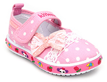 Kittens Belly Shoes Polka Dot Print - Bow Applique