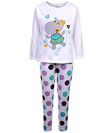 Babyhug Full Sleeves Night Suit - Printed