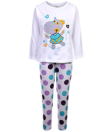 Babyhug Full Sleeves Night Suit - Printed