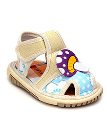 Sweet Year Musical Sandal Dotted Print - Mushroom Motif