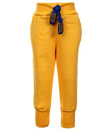 Little Kangaroos Track Pant With Drawstring - Yellow