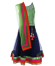 Doll Singlet Choli And Lehenga With Dupatta - Sequin Work