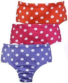 Bodycare Polka Dots Print Panties - Set of 3