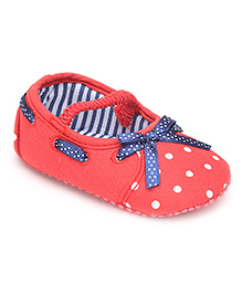 Cute Walk Baby Booties - Polka Dot Print