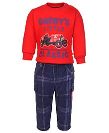 Little Kangaroos T-Shirt And Pant Set - Multi Print