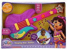 Fisher Price Dora The Explorer Singing Star Guitar - Purple - Includes Over 20 Tunes