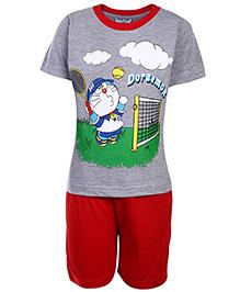 Doraemon Half Sleeves T-Shirt And Shorts Set