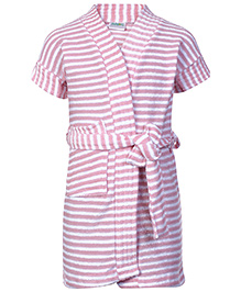 Babyhug Terry Bath Robe Pink - Stripes