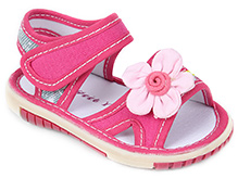 Sweet Year Sandal Velcro Closure - Floral Motif