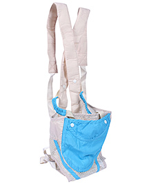 Fab N Funky Fashion Baby Carrier - Sky Blue And Cream