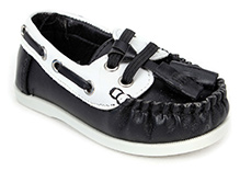 Sweet Year Slip On Loafers - Black And White