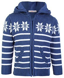Fox Hooded Sweater - Full Sleeves
