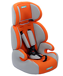 Fab N Funky High Back Car Seat - Orange And Grey