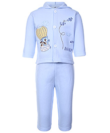 Child World Hooded T-Shirt And Legging Set - Blue