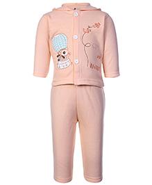 Child World Hooded T-Shirt And Legging Set - Peach