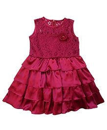 Campana Plum Cupcake Dress - Sleeveless