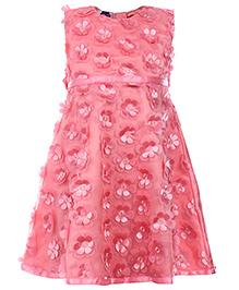 Cupcake Celebrations Sleeveless Party Dress - Floral Motifs