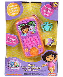 Fisher Price Dora Talk And Explore Mobile Phone - Pink