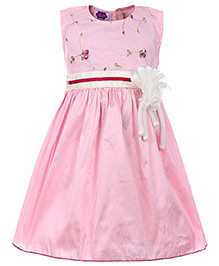 Cupcake Celebrations Sleeveless Party Dress - Floral Embroidery
