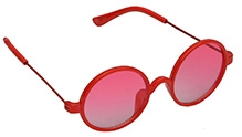 Spiky Round Sunglasses - Red - Free Size