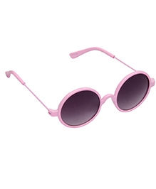 Spiky Round Sunglasses - Pink And Black