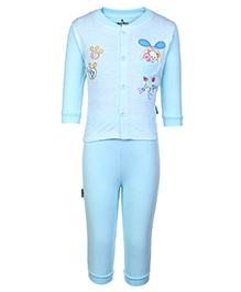 Child World T-Shirt And Legging Set Sky Blue - Embroidered