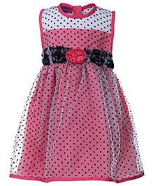Cupcake Celebrations Sleeveless Party Dress - Polka Dots Print